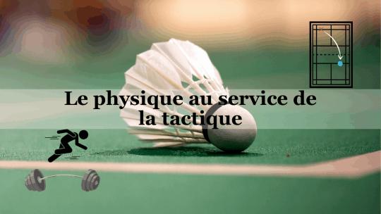 Image article physique et tactique badminton