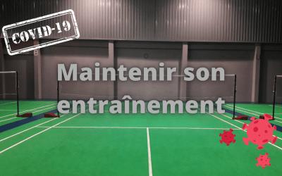 Badminton : maintenir son entrainement…